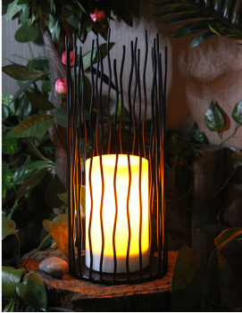 Solar Outdoor Powered Metal Lantern ( Large Size)-LED Garden Decorative Lights in Nature Color
