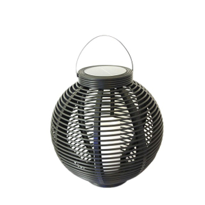 Solar Round Rattan Lantern Garden Light (large Size) -led Garden Decorative Lights Outdoor