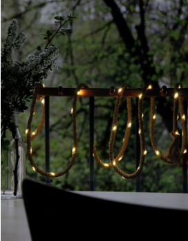 Solar Powered LED Rope String Light -LED Garden Decorative Lights Outdoor