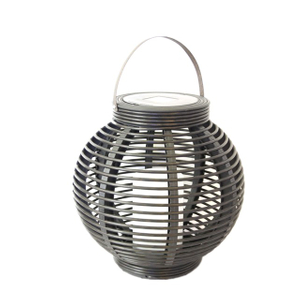 Solar Round Rattan Lantern Garden Light (medium Size) -led Garden Decorative Lights Outdoor