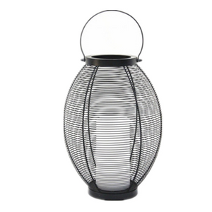 Solar Powered Metal Lantern Vase Shape - Small Size--LED Garden Decorative Lights Outdoor